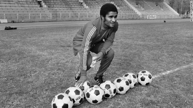 Portugal football legend Eusebio, who was top scorer at the 1966 World Cup, died from a heart attack on January 5 at age 71, said his former club, Benfica.