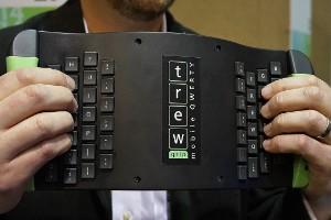 Un teclado móvil al revés