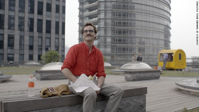 Joaquin Phoenix plays Theodore Twombly in the romantic drama