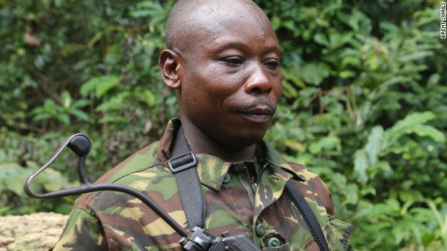 Eco Guard Brice Moupele is a pigmy and former poacher. He and other pigmies possess unrivaled knowledge of the forest that both poachers and protectors look to exploit.