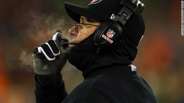 So concerned was 49ers coach Jim Harbaugh by the conditions that he asked his quarterback to wear gloves and long sleeves three times before Sunday's game.