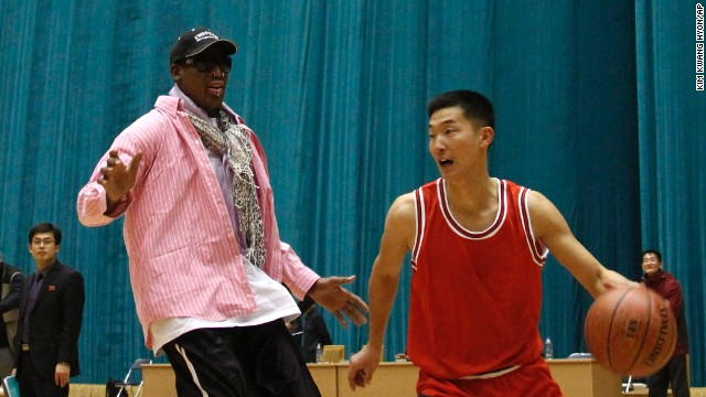 Photos: Former NBA stars in North Korea