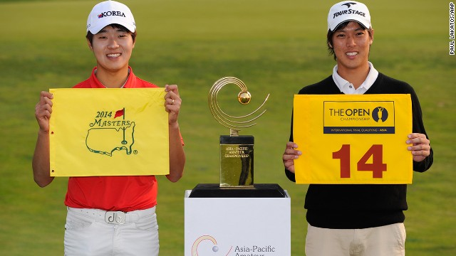 Asia-Pacific Amateur winner Lee Chang-woo is headed for the 2014 Masters, with Japan's runner-up Hideki Matsuyama joining him in final qualifying for the British Open.
