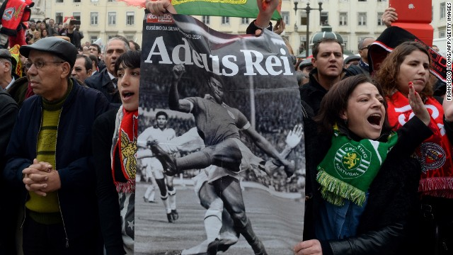 It was not just fans of Benfica who were mourning Eusebio's passing. Supporters of rivals Sporting Lisbon put aside their differences to celebrate the life of the striker -- one of Portugal's most famous men.