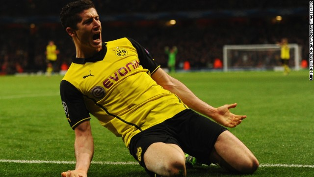 Borussia Dortmund striker Robert Lewandowski will join Bayern at the end of this season. The Poland international is one of the most prolific finishers in the game and follows in the footsteps of former teammate Mario Gotze, who made the same move last year.