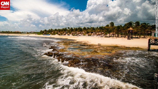 Feeling the winter chill today? Warm up by imagining yourself on the sandy beaches of the <a href='http://ireport.cnn.com/docs/DOC-923785'>Riviera Maya</a>.