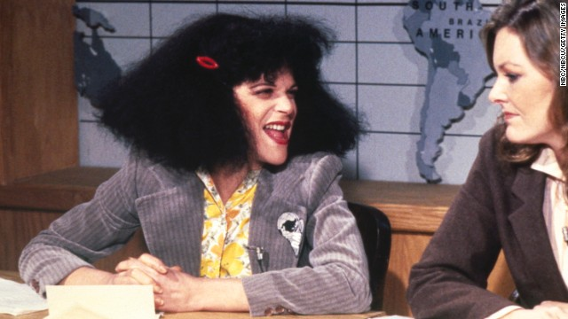 Gilda Radner, left, made characters such as Roseanne Roseannadanna popular during her time on the show from 1975 to 1980. She died of ovarian cancer in 1989.