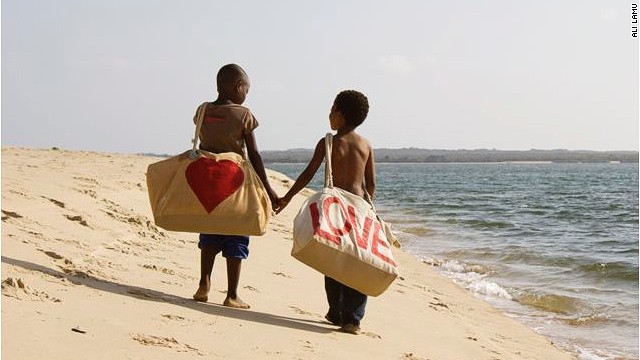 Based on the beautiful Kenyan island of Lamu, the company is well known for its designs featuring big red hearts.