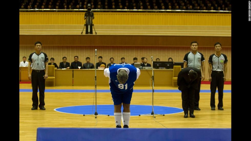 Partido de Rodman y exjugadores de la NBA en Corea del Norte