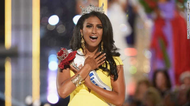 Nina Davuluri became the first winner of Indian descent when she won the 2014 Miss America Competition and <a href='http://www.cnn.com/2013/09/18/us/miss-america-nina-davuluri/'>drew headlines when her win spurred racist reactions online</a>.