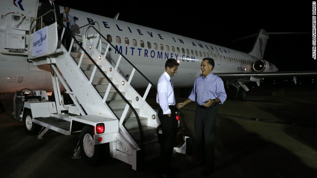 A DC-9 took part in the 2012 election. GOP presidential nominee Mitt Romney, right, trusted one to ferry his running mate, Paul Ryan, from stump speech to stump speech. The plane Ryan flew was built in 1970, the same year that Ryan was born.