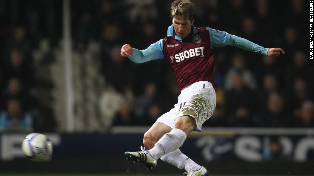 Hitzlsperger spent the 2010-11 season with West Ham United but, despite two goals for the London club, injuries prevented him making a telling impact.
