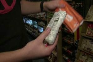 Novedosa manera de comprar burritos