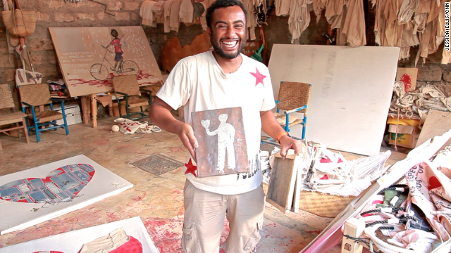 Lamu fisherman Ali Omar is the co-founder of the business.