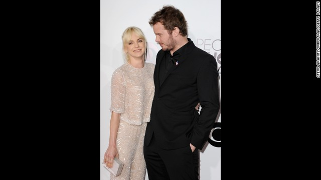 Anna Faris, left, and Chris Pratt
