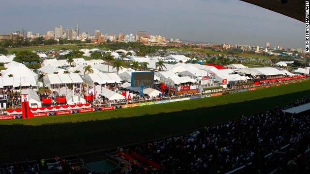 The Greyville Racecourse in Durban is home to top-class racing in South Africa and surrounds a championship golf course. It has spectacular views from its main grandstand of the city of Durban and the hotels on its Golden Mile. Residents of the city can access the course via a direct road which passes under the course.