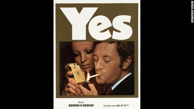 This French advertisement for Benson & Hedges cigarettes was published in 1970.