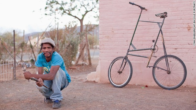 "Martin ""Silky' Afrika, at Loop street in Prince Albert, a South African town at the southern edge of the Great Karoo."