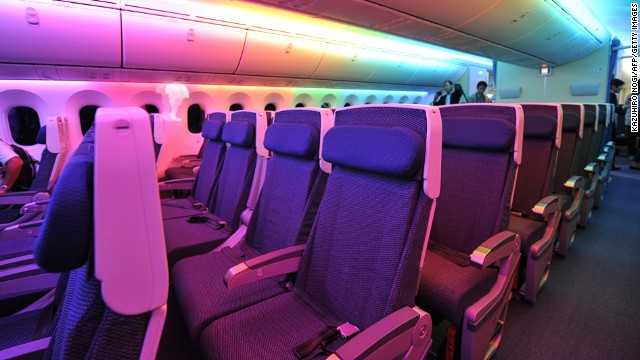 Singapore Airlines was another top-rated flier -- here economy-class seats on the Boeing 787 Dreamliner are shown. Last year was statistically the safest for flying since 1945.
