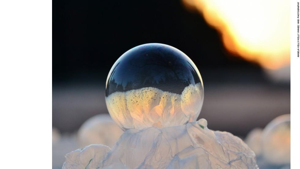 Fotos asombrosas de burbujas congeladas