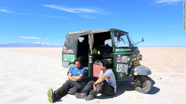 Meet the men who drove around the world in a tuk tuk cnn com