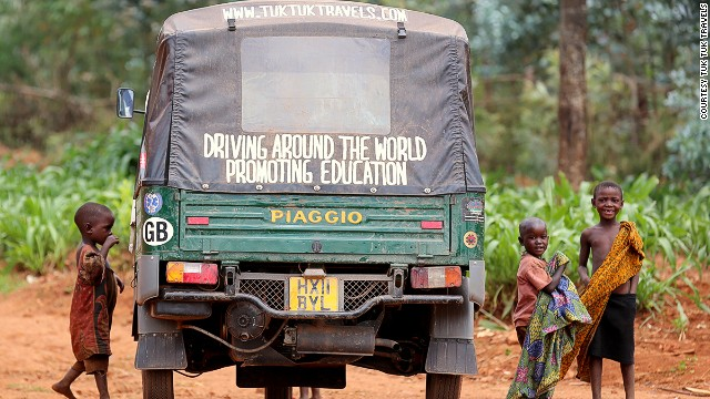 In landlocked Burundi, in Southeast Africa, kids come up to say hello to Tommy Tempo -- the nickname given to the teachers' road warrior in honor of a Nepalese comic book superhero tuk tuk of the same name.