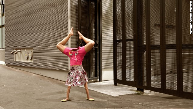 Doing a handstand isn't easy, so the photographer worked with Parisian schools to find dancers who were up for his imaginative project.