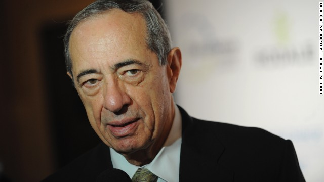 Former New York Gov. Mario Cuomo, pictured here in 2009, has been hospitalized.