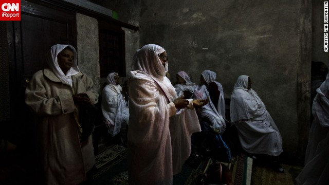 Members of an Ethiopian Orthodox church participate in services in Jerusalem. See more photos on <a href='http://ireport.cnn.com/docs/DOC-1067112'>CNN iReport</a>.