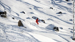 Off piste but on course for some great powder, at Meribel.