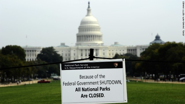 The U.S. government shut down October 1 after lawmakers in the House and the Senate could not agree on a spending bill to fund the government. The shutdown lasted 16 days.