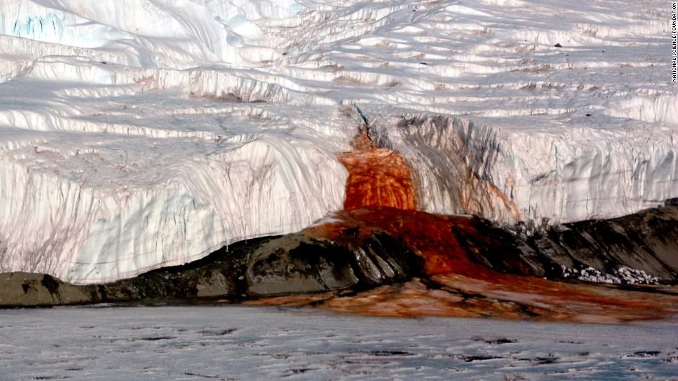 Cataratas de Sangre, Antártida