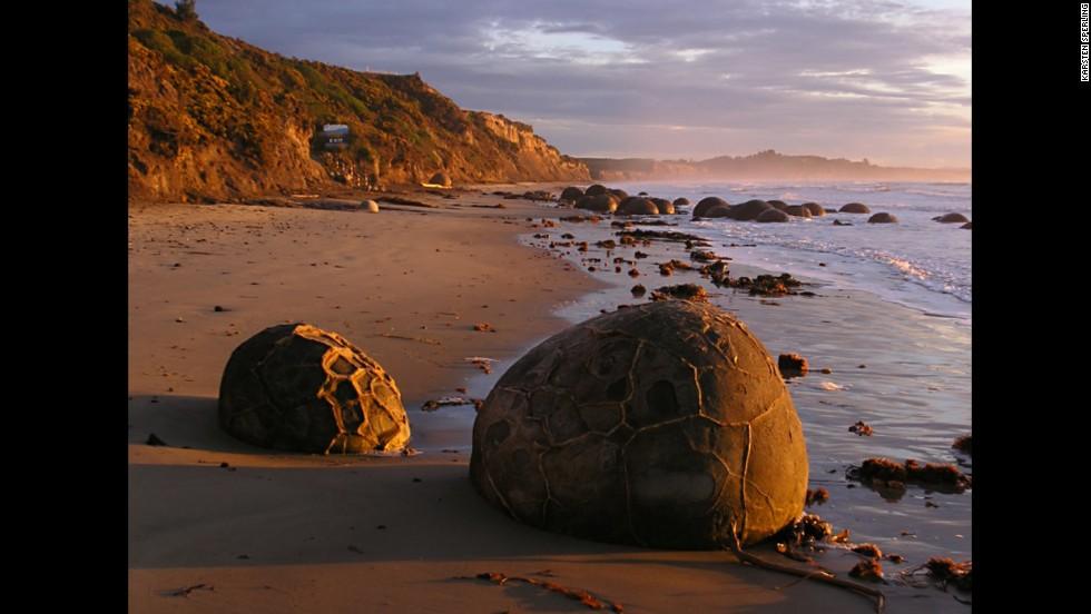 Rocas de Moeraki, Nueva Zelanda