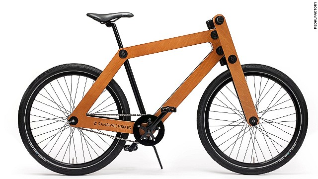 The Dutch-designed Sandwichbike is made from two weatherproof beech wood panels. The self-assembly vehicle clocks in at €799.00 ($1,086) -- though what you're paying for is the innovation.