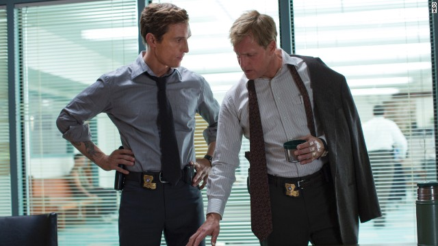 "Best actor in a mini-series or TV movie: Matthew McConaughey and Woody Harrelson, ""True Detective"" (pictured); Martin Freeman, ""Fargo""; Mark Ruffalo, ""The Normal Heart""; Billy Bob Thornton, ""Fargo."""