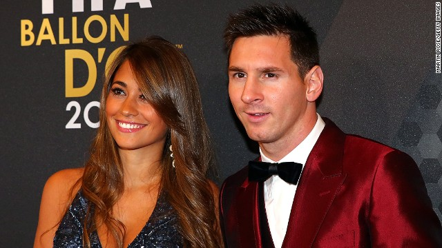 For the first time in five years, Lionel Messi - seen here alongside partner Antonella Roccuzzo - is no longer the world's best in FIFA's eyes. The Argentine, who scored 42 goals in 45 games in 2013, paid a price after suffering an injury during voting time.