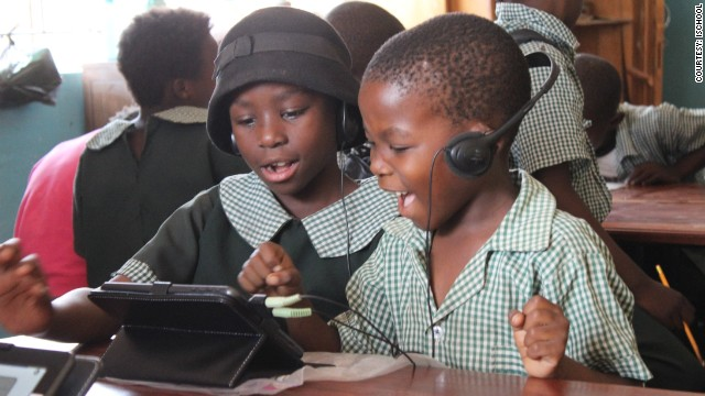 The tablet is equipped with over 12,000 lessons in nine different Zambian languages. The tablet teaches subjects including English, maths, design, art and music.