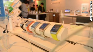 Samsung\'s smartwatch on display.