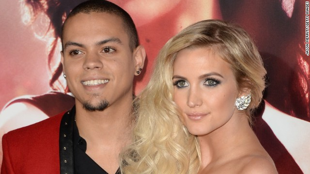 Newlyweds Evan Ross and Ashlee Simpson are expecting their first child together. Simpson also has a 6-year-old son with former husband Pete Wentz of Fall Out Boy. Ross, the actor son of Diana Ross, and Simpson, a singer and the younger sister of pop star Jessica Simpson, tied the knot in August.