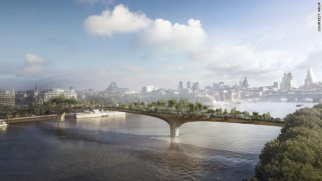 If architect <a href='http://www.heatherwick.com/' target='_blank'>Thomas Heatherwick</a> has his way, the River Thames will soon have a new plant-filled pedestrian crossing inspired in part by Leonardo DiCaprio.