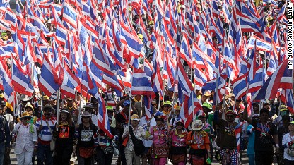 Protesters try to 'shut down' Bangkok