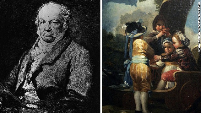 "Spanish painter Francisco Jose de Goya y Lucientes was another famous artist who succumbed to a serious case of the blues. His paintings often depicted images of insanity, but also milder themes such as his ""Children with a Cart"" shown here."