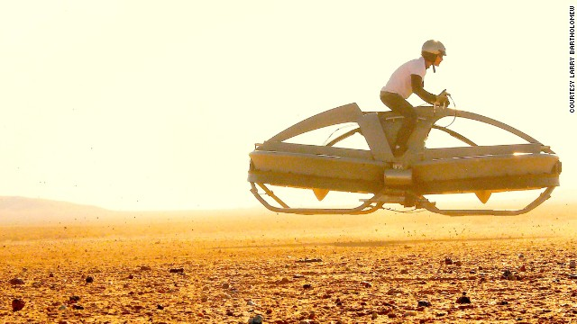 California's Aerofex has built a proof-of-concept hover bike, which flies using two ducted fans.