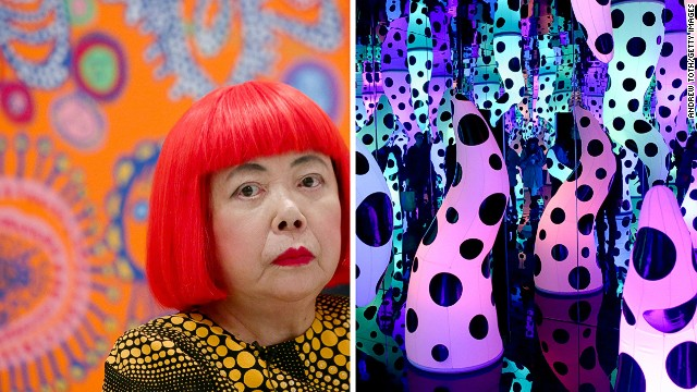 Japanese artist Yayoi Kusama voluntarily checked herself into a psychiatric institution in the 1970s, where she became a permanent resident. Obsessive themes are dominant in her work, and <a href='http://www.cnn.com/2013/12/09/world/glittering-led-wonderland/index.html' target='_blank'>her installations</a>, such as the one shown here, often feature endless dots.