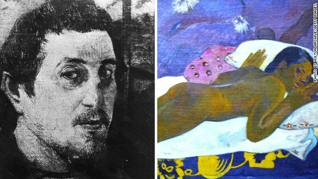 "Paul Gauguin, a close friend of Van Gogh, also experienced severe bouts of depression and tried to end his life. He left his native France for Tahiti, where he produced a series of sensual paintings such as ""The Spirit of the Dead Watch"", of which a detail is shown here."