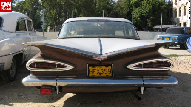 CNN's <a href='http://ireport.cnn.com/docs/DOC-1074542'>Peter Bale</a> also sent in this picture of a beautiful Chevrolet with lethal looking fins in Havana, Cuba, while on holiday in 2008.