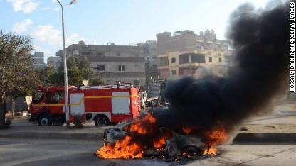 Violence erupts as Egypt votes