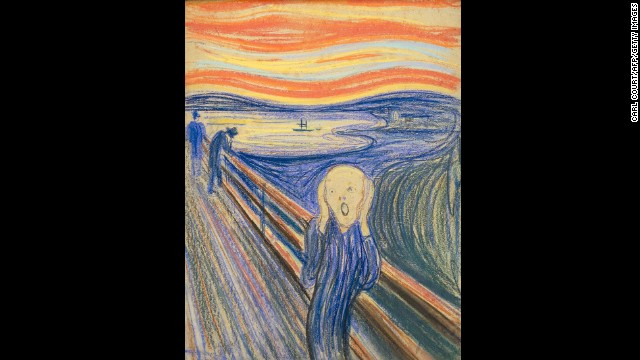 "Throughout history, numerous artists have battled mental illness, leading scientists to examine the link between creativity and mental health. Edvard Munch, who died exactly 70 years ago, suffered from anxiety which he poured into his paintings, such as ""The Scream"", pictured here."