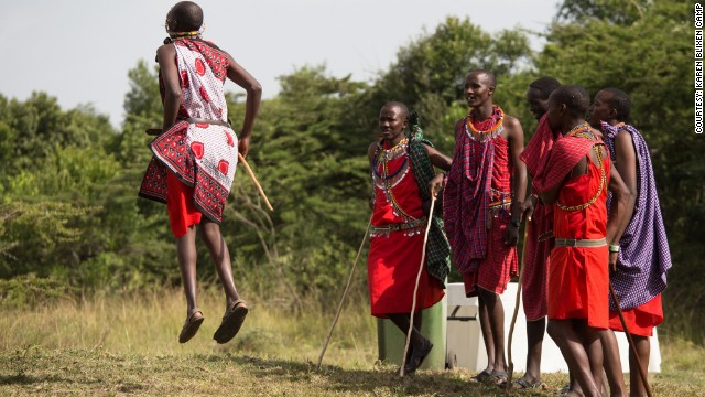 Guests at the ceremony are treated to a traditional Maasai jumping dance, known as Adumu.