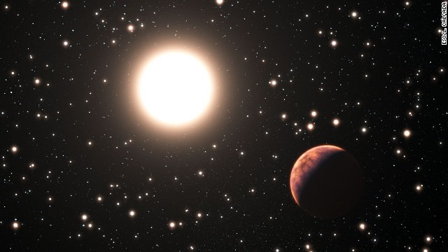 This illustration shows one of the three newly discovered planets in the star cluster Messier 67.